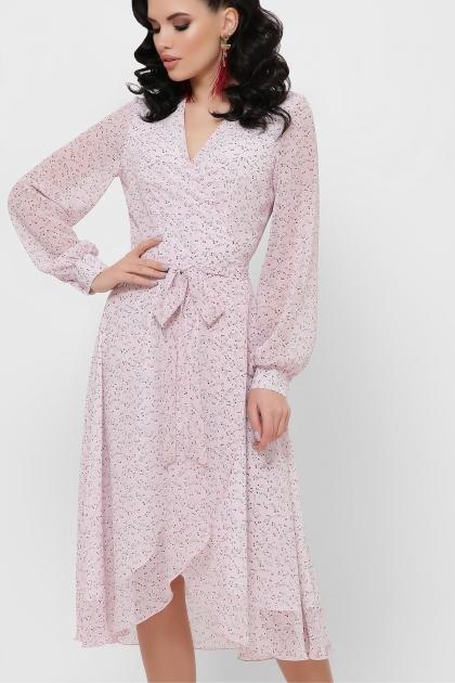 нежное платье на запах. Платье Алеста д/р. Цвет: розовый-цветы м. купить