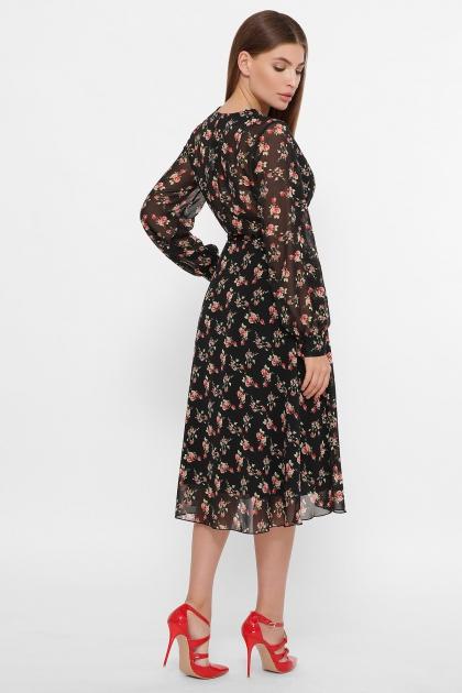 . Платье Алеста д/р. Цвет: черный-роза красная цена