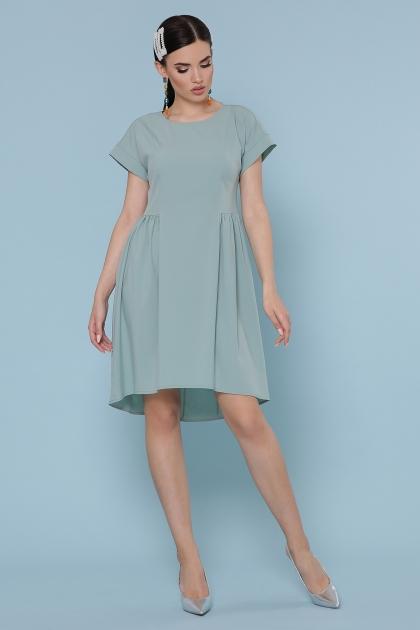 оливковое платье с коротким рукавом. Платье Вилена к/р. Цвет: оливковый цена
