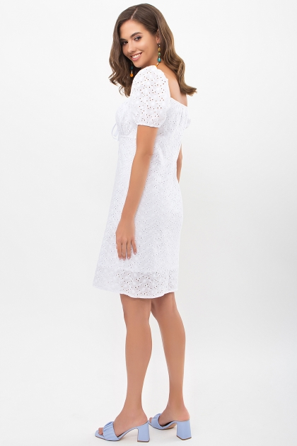 белое мини платье. Платье Бажена к/р. Цвет: белый в интернет-магазине