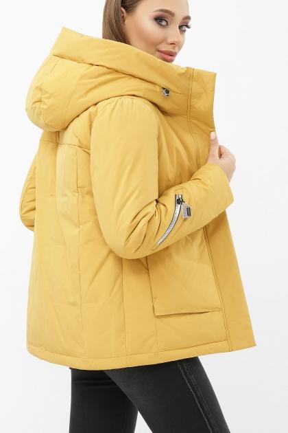 . Куртка М-2092. Колір: 20-горчица-серебро цена