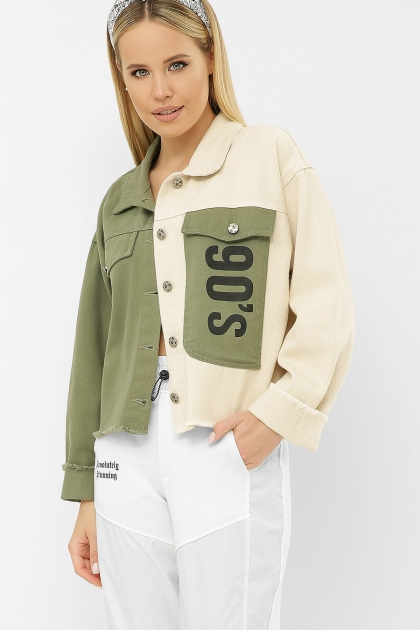 . 211890 AST Куртка VА. Цвет: хаки-молоко купить