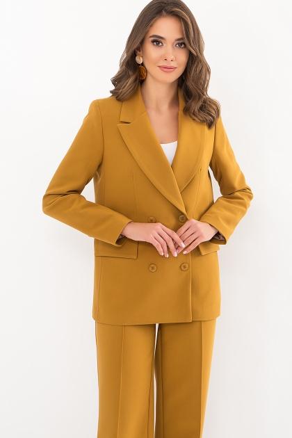 черный деловой пиджак. Пиджак Элейн д/р. Цвет: горчица цена