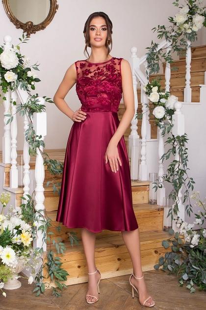 вечернее бордовое платье. Платье Пайпер б/р. Цвет: бордовый купить