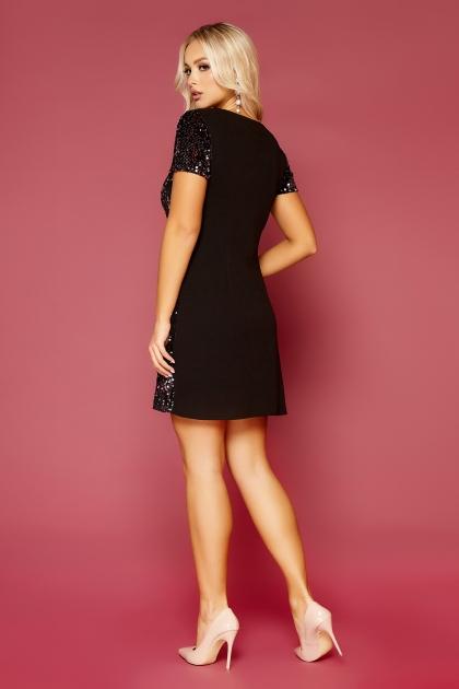 синее платье с пайетками. Платье Ираида к/р. Колір: черный-сирень цена