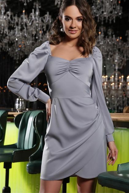 коктейльное серое платье. Платье Анелия д/р. Цвет: серый цена