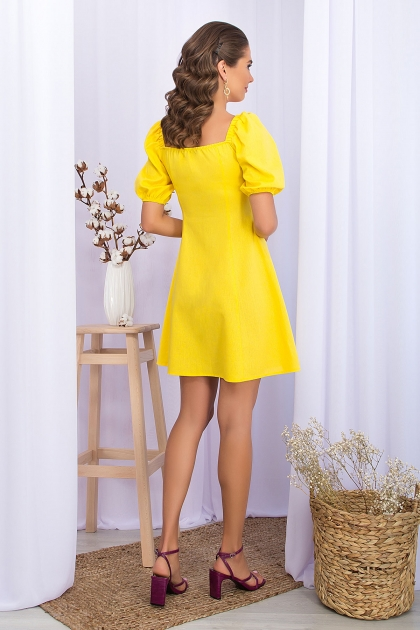 . Платье Абелия к/р. Цвет: желтый цена