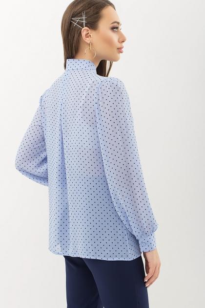 серая блузка в горошек. Блуза Аза д/р. Цвет: голубой-черный м.горох цена