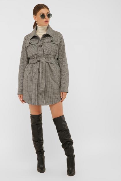 . Пальто П-409-85. Цвет: 2704-т.серый в интернет-магазине