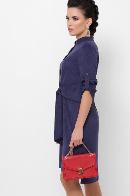 бордовое платье из замши. Платье Мерида д/р. Цвет: синий купить