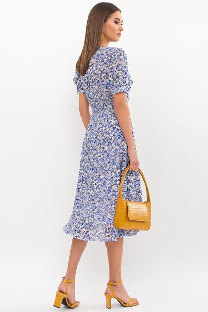 . Платье Алеста к/р. Цвет: голубой-ромашки в интернет-магазине