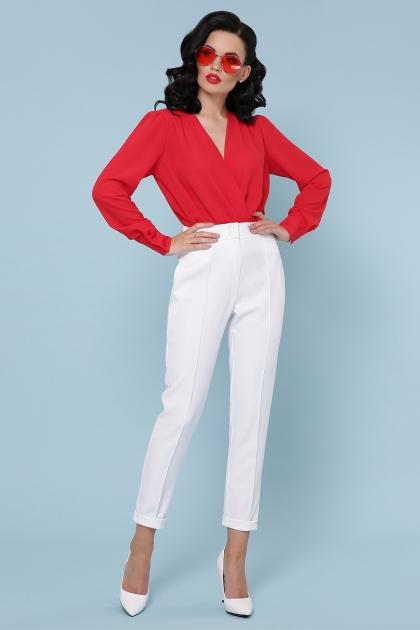 белая блузка-боди. Блуза-боди Карен д/р. Цвет: красный недорого