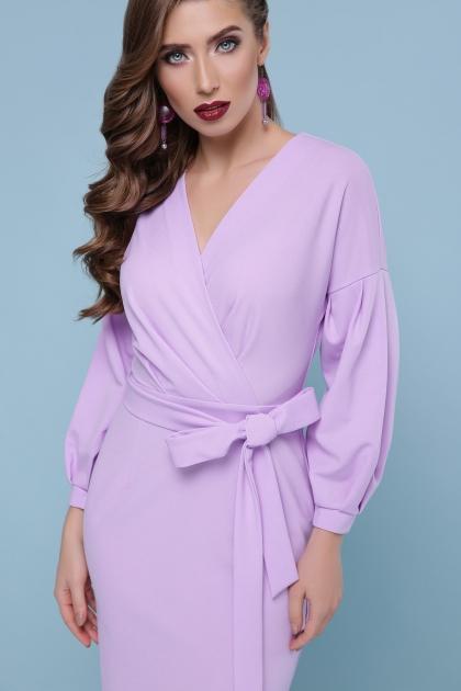 голубое платье с поясом. Платье Одри д/р. Цвет: лавандовый цена