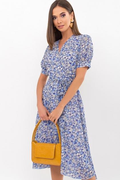 . Платье Алеста к/р. Цвет: голубой-ромашки цена