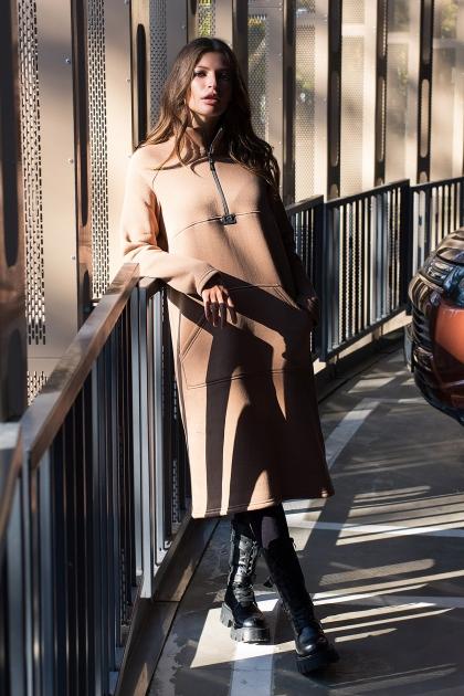 розовое спортивное платье. Платье Айсин д/р. Цвет: капучино в интернет-магазине