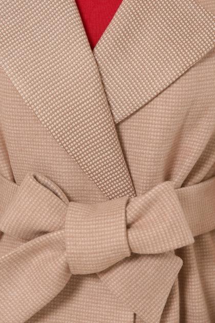 демисезонное песочное пальто. Пальто П-347-М-90. Цвет: 5-бежевый в интернет-магазине