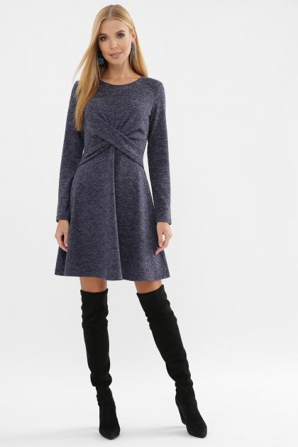 персиковое платье на осень-зиму. Платье Дафна д/р. Цвет: синий цена