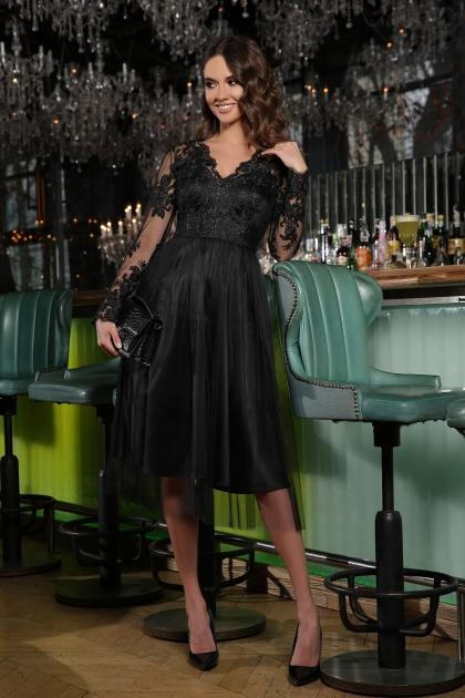черное платье с вышивкой. Платье Марита д/р. Цвет: черный купить