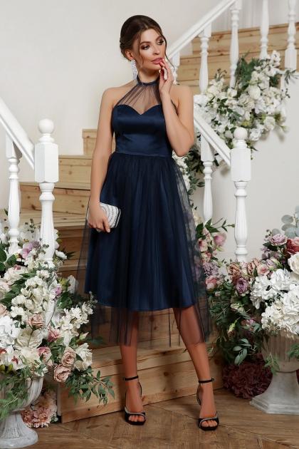 синее платье миди. Платье Джена б/р. Цвет: синий купить
