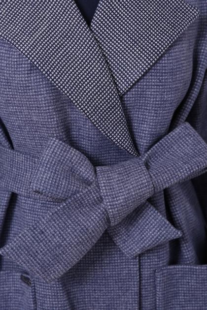 демисезонное песочное пальто. Пальто П-347-М-90. Цвет: 11-синий в интернет-магазине