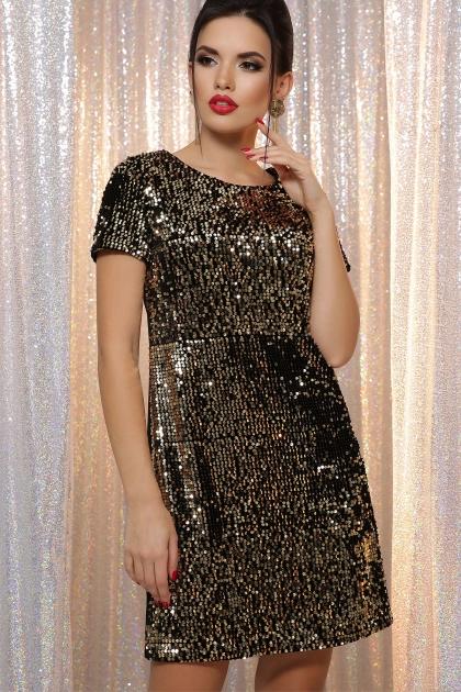черное платье с пайетками. Платье Ираида к/р. Цвет: черный-золото цена