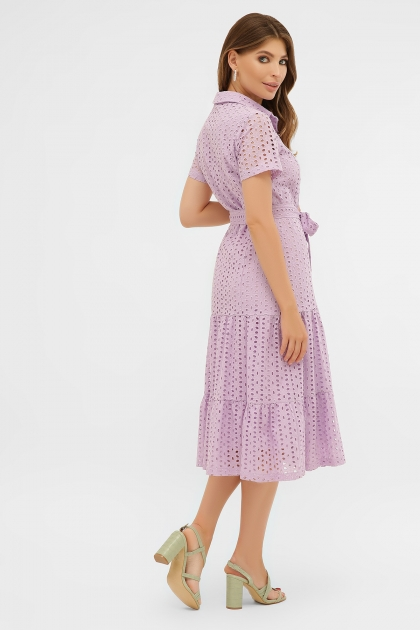 персиковое платье из хлопка. Платье Уника 1 к/р. Цвет: лавандовый в интернет-магазине