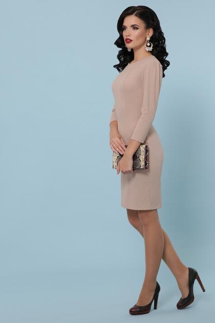 Платье выше колен темно-синего цвета. Платье Модеста д/р. Цвет: бежевый цена