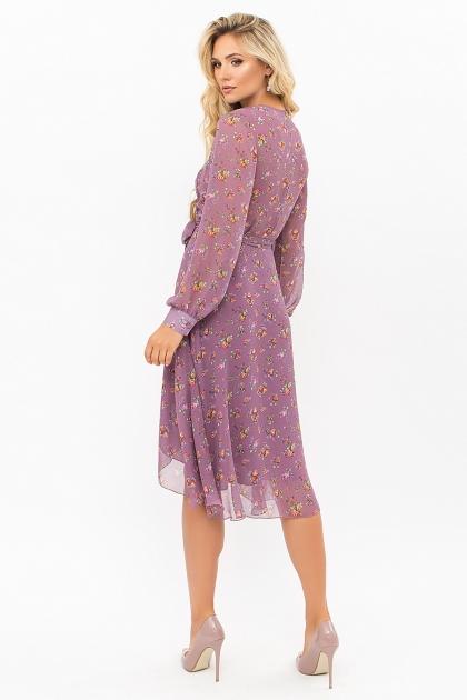 нежное платье на запах. Платье Алеста д/р. Цвет: лиловый-букет Роз цена