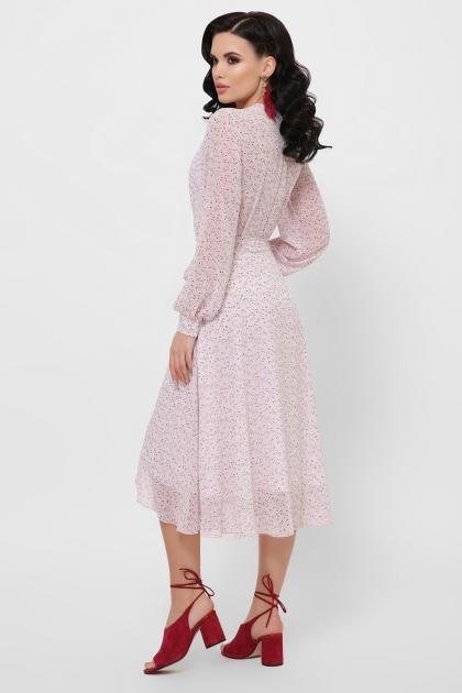 нежное платье на запах. Платье Алеста д/р. Цвет: розовый-цветы м. в интернет-магазине