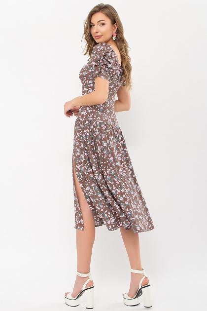 . Платье Никси к/р. Цвет: капучино-розов.Розы цена