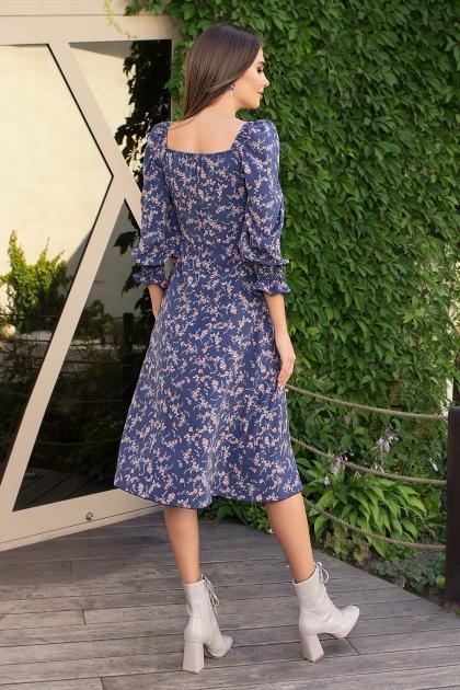 . Платье Пала д/р. Цвет: т.джинс-коралл цветок купить