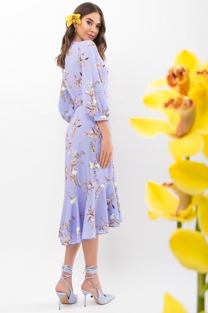 платье на запах из софта. Платье Сафура 3/4. Цвет: джинс-ветка в интернет-магазине