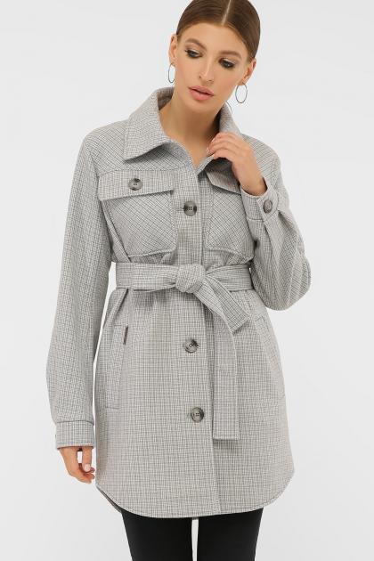 . Пальто П-409-85. Цвет: 2706-св.серый в интернет-магазине