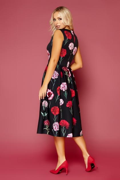 платье без рукавов с цветочным принтом. Гвоздики Платье Дара б/р. Цвет: черный в интернет-магазине