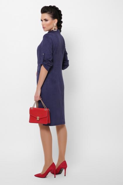 бордовое платье из замши. Платье Мерида д/р. Цвет: синий в интернет-магазине
