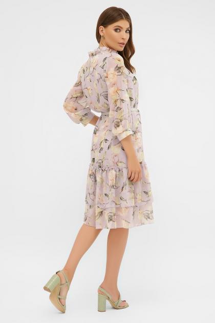 платье хаки из шифона. Платье Элисон 3/4. Цвет: сиреневый- роза ваниль в интернет-магазине
