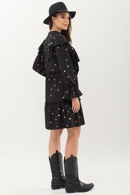синее платье в горошек. Платье Лесса д/р. Цвет: черный-горох цветной цена