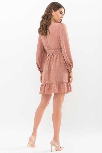 . Платье Идэн д/р. Цвет: капучино-точка белая цена