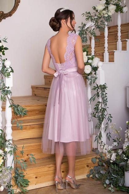 выпускное платье с фатиновой юбкой. Платье Паиса б/р. Цвет: св. сиреневый цена