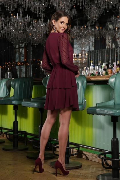 черное платье с длинными рукавами. Платье Лора д/р. Цвет: бордо цена