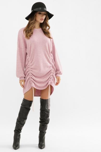 терракотовое платье с длинным рукавом. Платье Диля д/р. Цвет: розовый купить