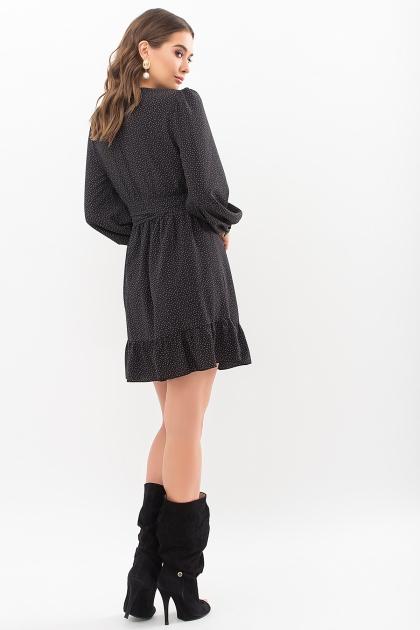 . Платье Идэн д/р. Цвет: черный-точка белая цена