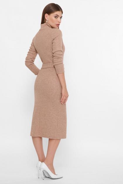 теплое платье-футляр. Платье Виталина 1 д/р. Цвет: темно бежевый купить
