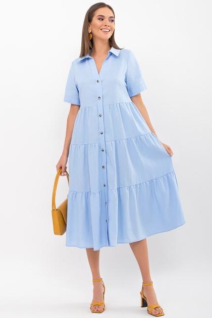 . Платье Иветта к/р. Цвет: голубой купить