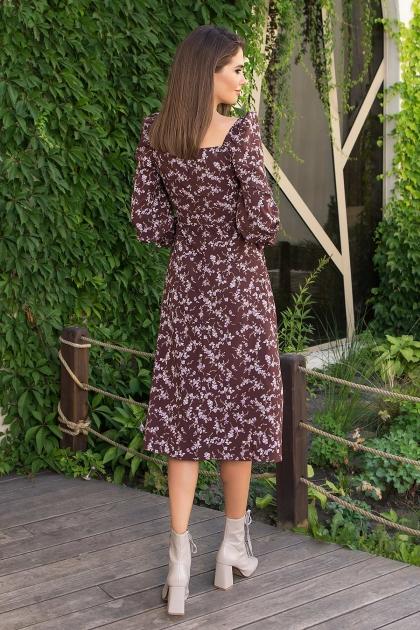 . Платье Пала д/р. Цвет: шоколад-сирен.цветок в интернет-магазине