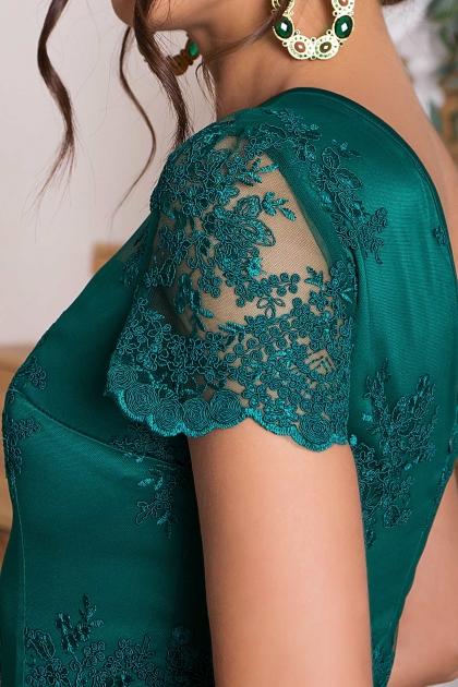 зеленое кружевное платье. Платье Микея к/р. Цвет: зеленый в Украине
