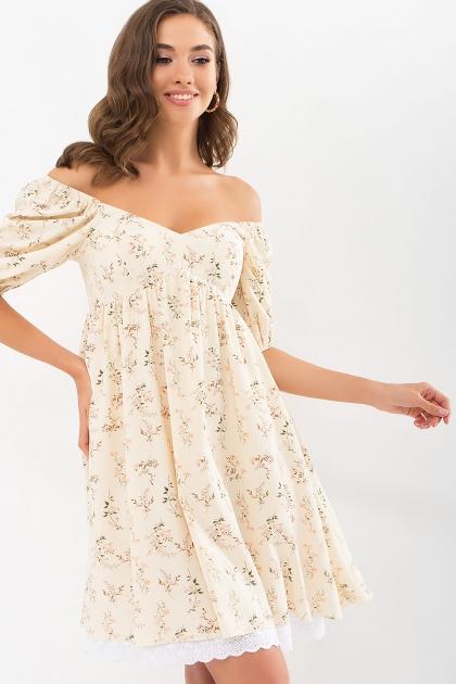 . Платье Эсмина к/р. Цвет: молоко-полевые цветы цена