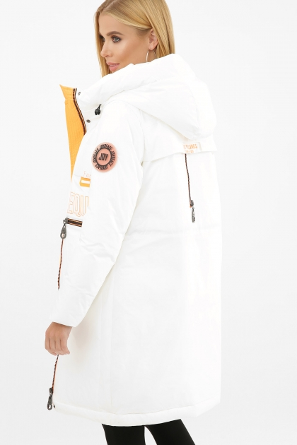 . Куртка 297. Колір: 26-белый-оранжевый в интернет-магазине