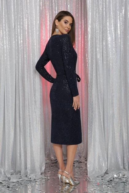 . Платье Залина д/р. Цвет: синий в интернет-магазине