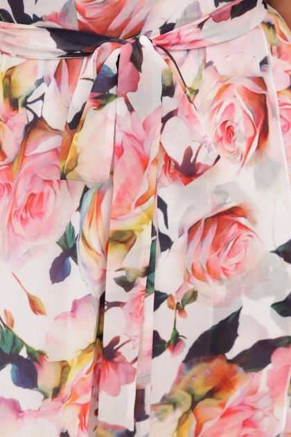 . Платье Алеста к/р. Цвет: белый-розы недорого